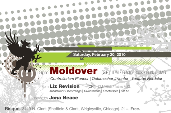 Moldover chicago performance with Liz Revision at Risque cafe